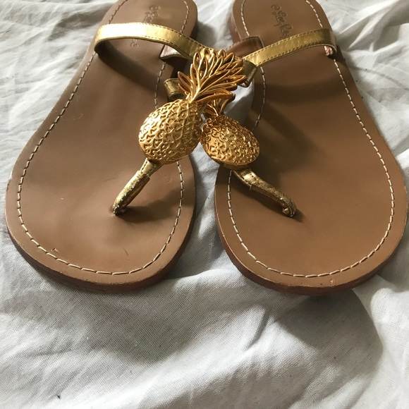 a1c9ef49331c Lilly Pulitzer for Target Shoes - Lilly Pulitzer for Target Gold Pineapple  Sandals 9